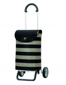 Nákupní taška na kolečkách Andersen Scala Shopper Plus Ida černá, 36l
