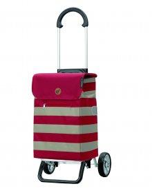 Nákupní taška na kolečkách Andersen Scala Shopper Plus Lina, červená, 34l
