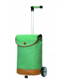 Nákupní taška na kolečkách Andersen Unus Shopper Emil zelená