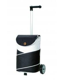 Nákupní taška na kolečkách Andersen Unus Shopper  Jarl šedá