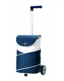 Nákupní taška na kolečkách Andersen Unus Shopper  Jarl modrá