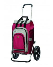 Nákupní taška na kolečkách Andersen Royal Shopper Hydro 2.0 červená, kolečko s kul.ložisky 29 cm