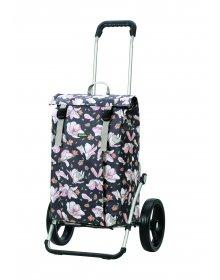 Nákupní taška na kolečkách Andersen Royal Shopper Basil Magnolia, růžová, 37l