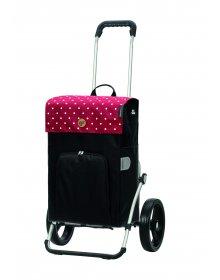Nákupní taška na kolečkách Andersen Royal Shopper Malit, červená, 45l