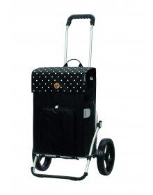 Nákupní taška na kolečkách Andersen Royal Shopper Malit, černá, 45l