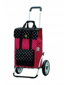 Nákupní taška na kolečkách Andersen Royal Shopper® Rul, červená, 51l, kolečka s kuličkovými ložisky