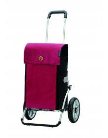 Nákupní taška na kolečkách Andersen Royal Shopper® Jante, červená, 53l, kolečka s kuličkovými ložisky
