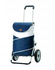 Nákupní taška na kolečkách Andersen Royal Shopper® Jarl, modrá, 41l, kolečka s kuličkovými ložisky