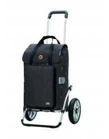 Nákupní taška na kolečkách Andersen Royal Shopper® Ivar, šedá, 44l, kolečka s kuličkovými ložisky
