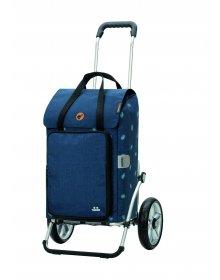 Nákupní taška na kolečkách Andersen Royal Shopper® Ivar, modrá, 44l, kolečka s kuličkovými ložisky