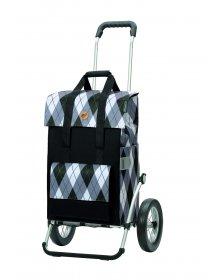 Nákupní taška na kolečkách Andersen Royal Shopper Ine šedá