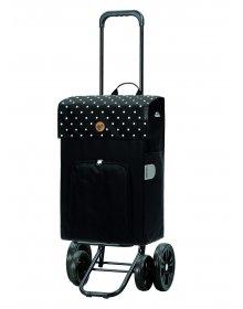 Nákupní taška na kolečkách Andersen Quattro Shopper Malit černá