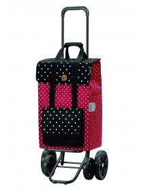Nákupní taška na kolečkách Andersen Quattro Shopper Rul červená