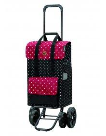 Nákupní taška na kolečkách Andersen Quattro Shopper Rul černá