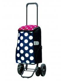 Nákupní taška na kolečkách Andersen Quattro Shopper Mats modrá