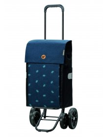 Nákupní taška na kolečkách Andersen Quattro Shopper Ando modrá