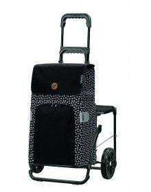Nákupní taška se sedátkem Andersen Komfort Shopper Mara černá