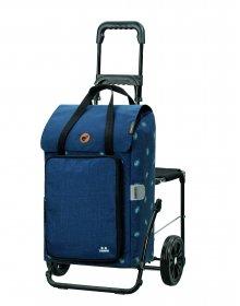 Nákupní taška se sedátkem Andersen Komfort Shopper Ivar modrá