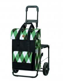 Nákupní taška se sedátkem Andersen Komfort Shopper Ine zelená