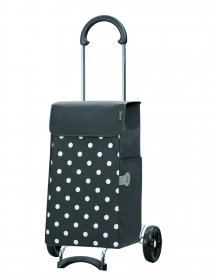 Nákupní taška na kolečkách Andersen SCALA SHOPPER® LIS, šedá, puntíky
