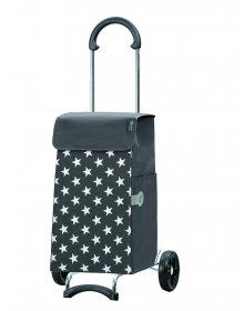 Nákupní taška na kolečkách Andersen SCALA SHOPPER® LIS, šedá, hvězdičky