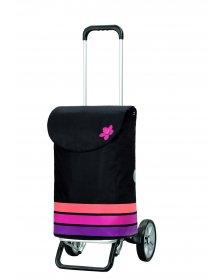 Andersen ALU STAR SHOPPER® BLOM, černá + růžová
