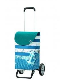 Nákupní taška na kolečkách Andersen ALU STAR SHOPPER® MEER, modrá, 39l
