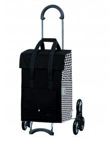 Nákupní taška Andersen TREPPENSTEIGER SCALA SHOPPER® EDA - DO SCHODŮ, černá