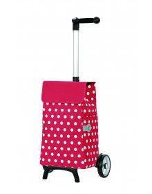 Nákupní taška Andersen UNUS SHOPPER® FUN ELFI, červená