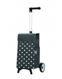 Nákupní taška Andersen UNUS SHOPPER® FUN LIS, šedá, puntíky