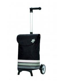 Nákupní taška Andersen UNUS SHOPPER® FUN BLOM, šedá