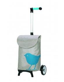 Nákupní taška Andersen UNUS SHOPPER® FUN BIRD, modrá