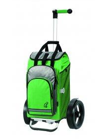 Nákupní taška Andersen TURA SHOPPER® HYDRO, kolečka s kuličkovými ložiskami, zelená
