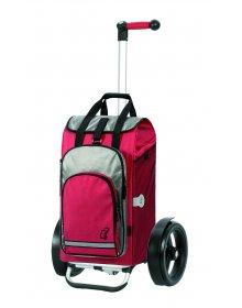 Taška na kolečkách Andersen TURA SHOPPER® HYDRO, kolečka s kuličkovými ložiskami, červená