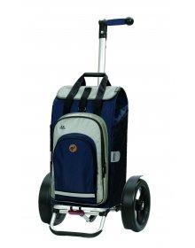 Taška na kolečkách Andersen TURA SHOPPER® HYDRO, kolečka s kuličkovými ložiskami, modrá
