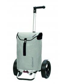 Taška na kolečkách Andersen TURA SHOPPER® ORTLIEB, kolečka s kuličkovými ložiskami, šedá