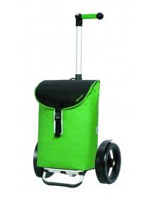 Nákupní taška Andersen TURA SHOPPER® FLOYD, kolečka s kuličkovými ložisky, zelená