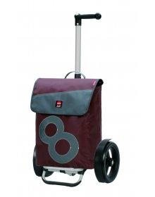 Nákupní taška Andersen TURA SHOPPER® 360° BOJE 8, kolečka s kuličkovými ložisky, hnědá