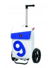 Taška na kolečkách Andersen TURA SHOPPER® 360° BOJE 9, kolečka s kuličkovými ložisky, bílá