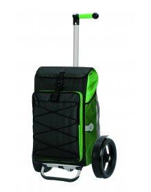 Nákupní taška Andersen TURA SHOPPER® THOR, kolečka s kuličkovými ložisky, zelená