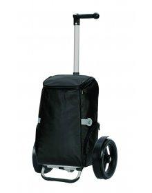 Nákupní taška Andersen TURA SHOPPER® RUNE, kolečka s kuličkovými ložisky, černá