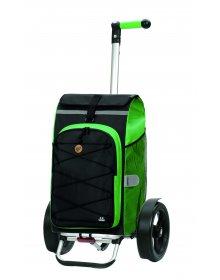 Taška na kolečkách Andersen TURA SHOPPER® FADO, kolečka s kuličkovými ložiskami, zelená