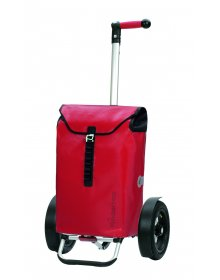 Nákupní taška Andersen TURA SHOPPER® ORTLIEB, nafukovací kolečka s kuličkovými ložiskami, červená