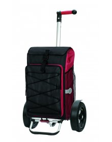 Nákupní taška Andersen TURA SHOPPER® THOR, nafukovací kolečka s kuličkovými ložisky, červená