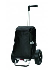 Nákupní taška Andersen TURA SHOPPER® RUNE, nafukovací kolečka s kuličkovými ložisky, černá