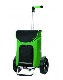 Taška na kolečkách Andersen TURA SHOPPER® CLINT, nafukovací kolečka s kuličkovými ložisky, zelená