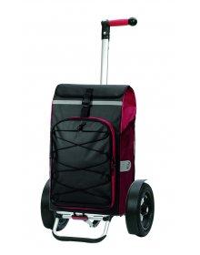 Taška na kolečkách Andersen TURA SHOPPER® FADO, nafukovací kolečka s kuličkovými ložisky, červená