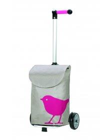 Nákupní taška Andersen UNUS SHOPPER® BIRD, růžová