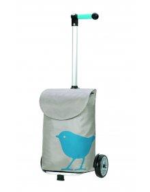 Nákupní taška Andersen UNUS SHOPPER® BIRD, tyrkysová