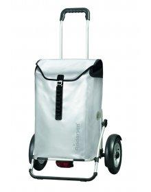 Taška na kolečkách Andersen ROYAL SHOPPER® PLUS ORTLIEB, nafukovací kolečka, stříbrná